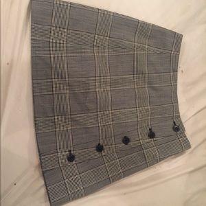 Aritzia Skirts - Sunday Best-Aritzia Grey Plaid A-Line Skirt